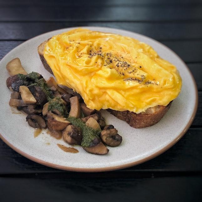Scrambled Eggs Tartine $15