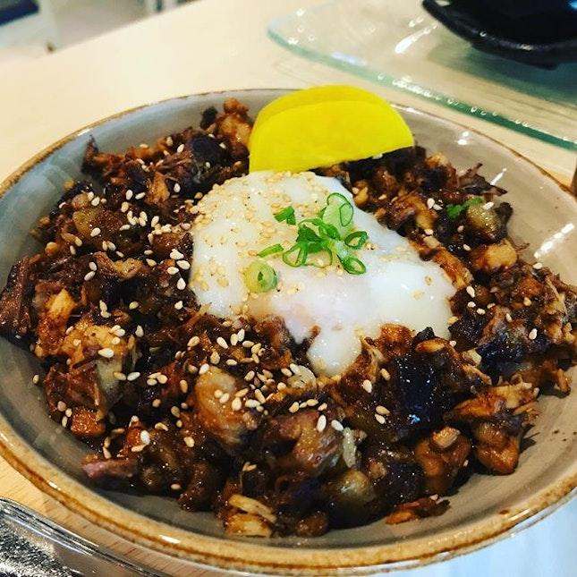 Pork rice with Osen egg!