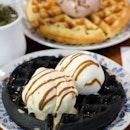 Interesting Charcoal Mochi Waffle
