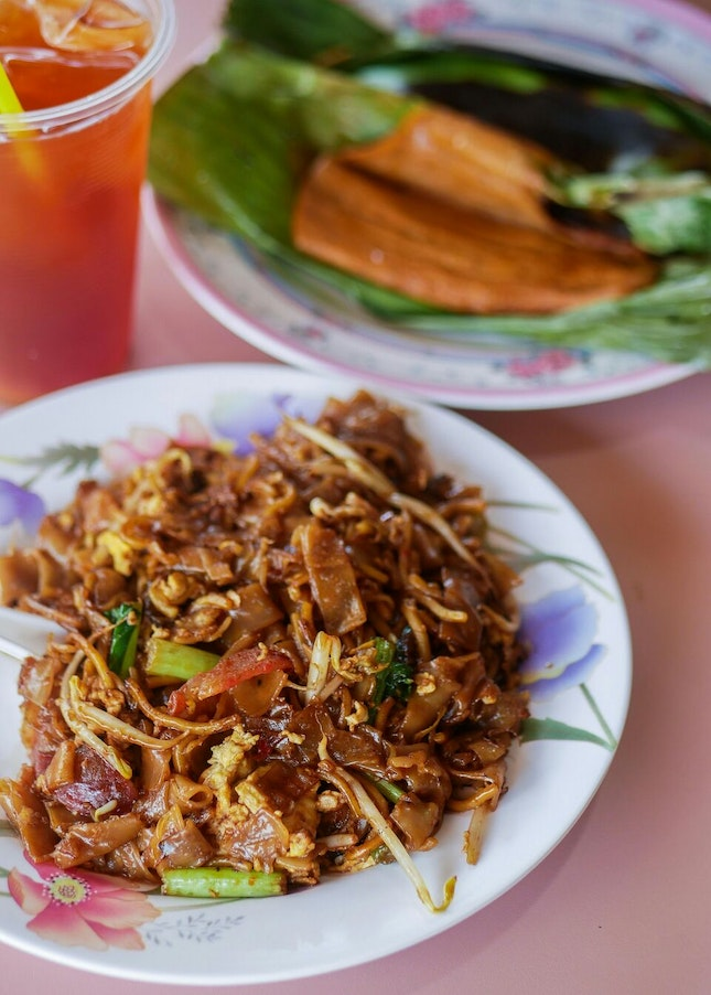 We Loved their Pairing of Char Kway Teow and Otah