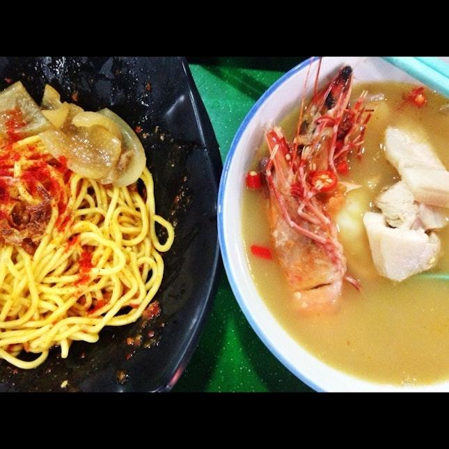 大蝦三層肉麵 Prawn & Pork Belly Noodle