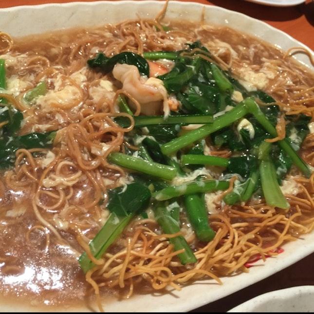 鮮蝦生麵 Shrimps With Crispy Noodle