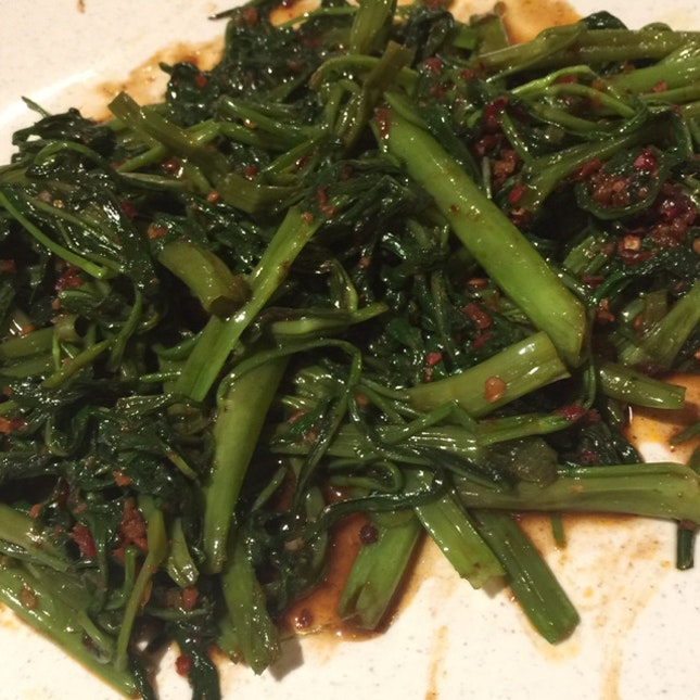 炒蕹菜 Stir-fried Belacan Kang Kong