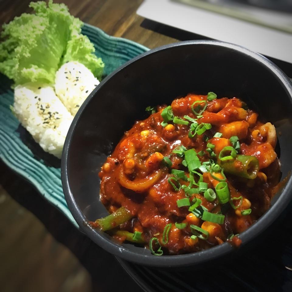 Spicy Stir-fried Octopus