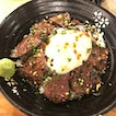 Wagyu don with onsen egg