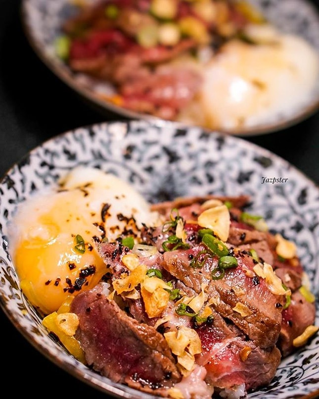 Mad starving and could SO totally do with a Wagyu Bowl (or two, with some sake) right now.