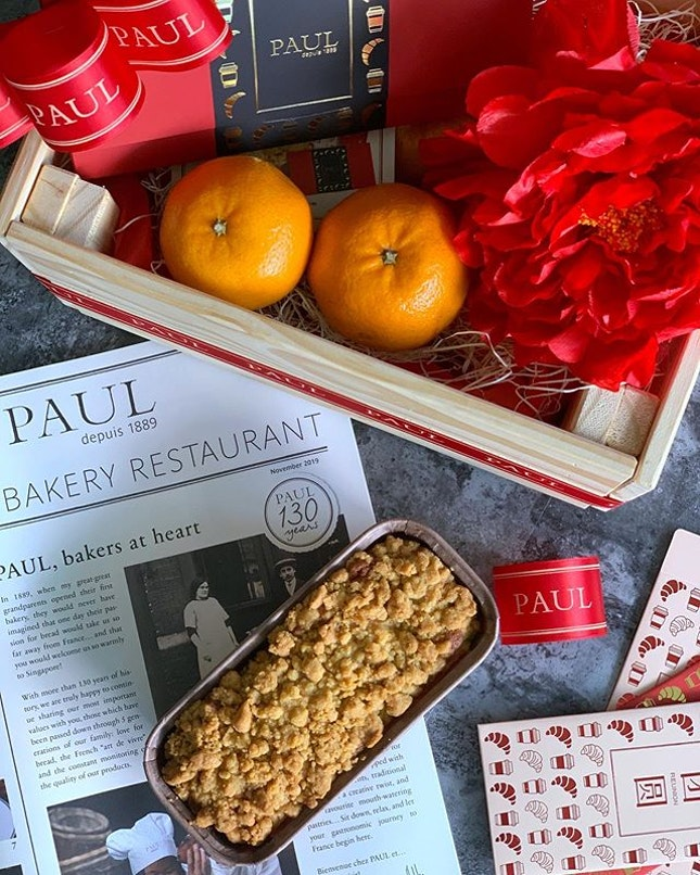 @paulbakerysg launched new limited edition Mandarin Orange Butter Cake $10.80 for CNY.