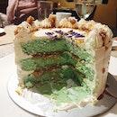 Leftover #birthday #cake for breakfast is always a good idea 😋🎂 #burpple #foodporn #ondehondehcake
