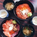Salmon & Tuna bowl ($15nett) for lunch!