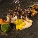 Brittany monk fish with celeriac remoulade, pork jowl and Manjimup black truffle 😍