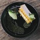 Lemon tart with sweet basil ice cream ❤️ #soGood!