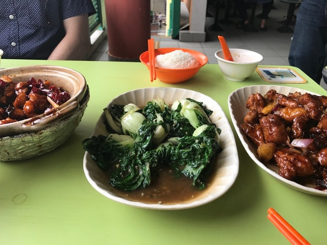Gong Bao Chicken, Nai Bai And Spare Ribs