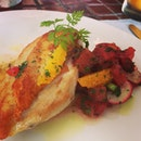 Baked chicken with chickpea purée #instalove #instadaily #italian #iphonesia #foodporn #foodoftheday #luxbite #igaddict
