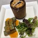 Blue Flower Tofu With Black Truffle Wild Rice