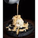 Charcoal Waffle ($12.0).