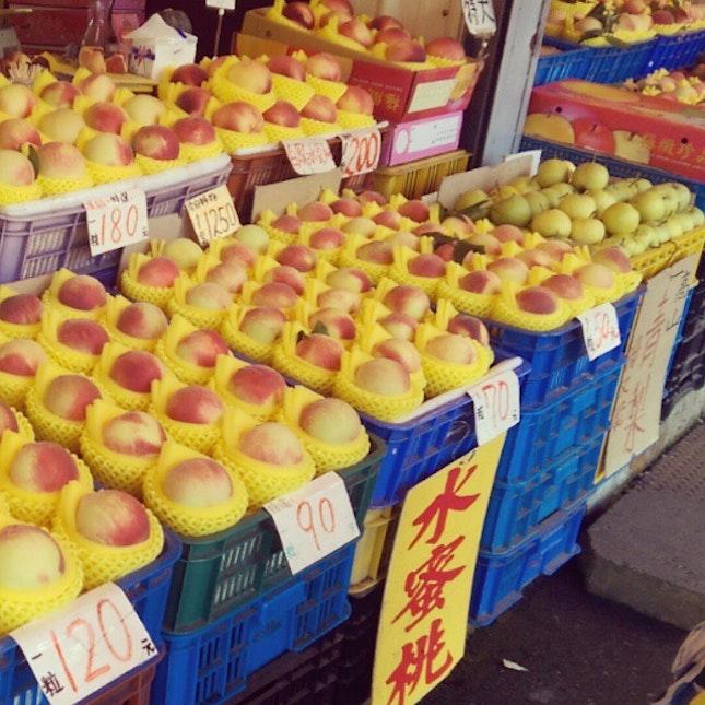23 August 2014 - Huge peaches greeting us at cingjing #peach #fruits #foodie #cingjing #nantou #Taiwan #travel #travelogue #throwback #latergram