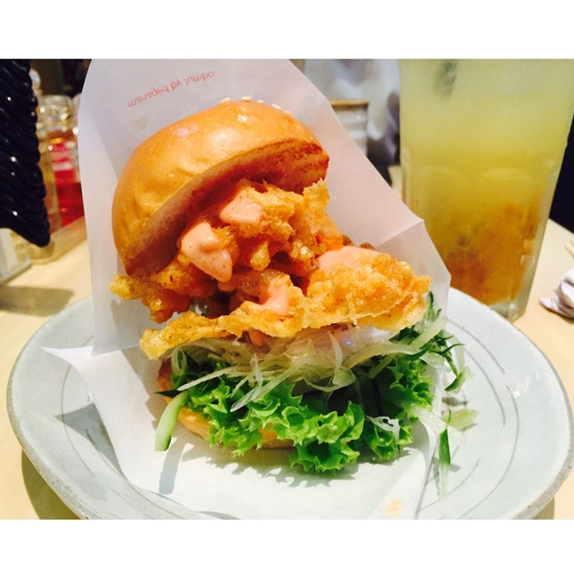 Mini Mentaiko Ebi Burger