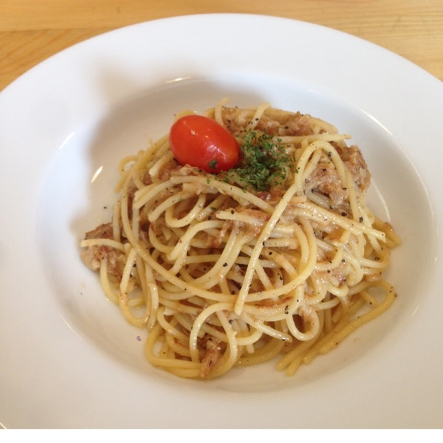 Aglio Olio With Asian Pulled Pork