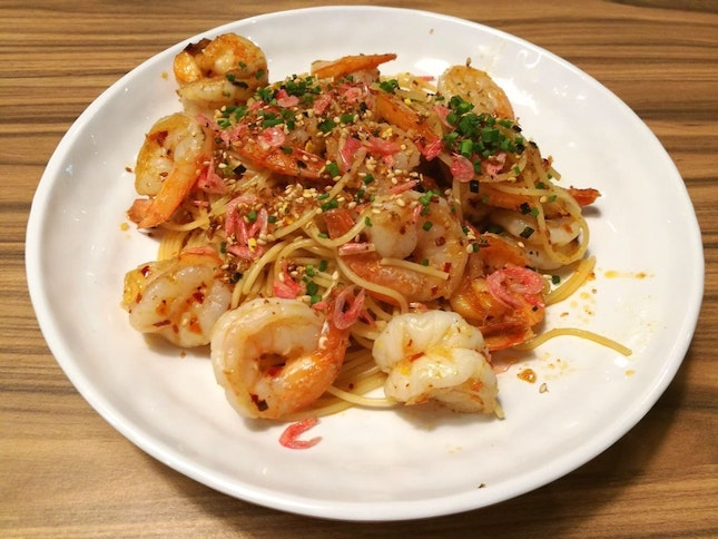 Prawn Aglio Olio French Cuisine