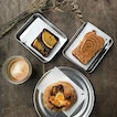 Bialy, Nut Butter With Honey Toast And Brownie