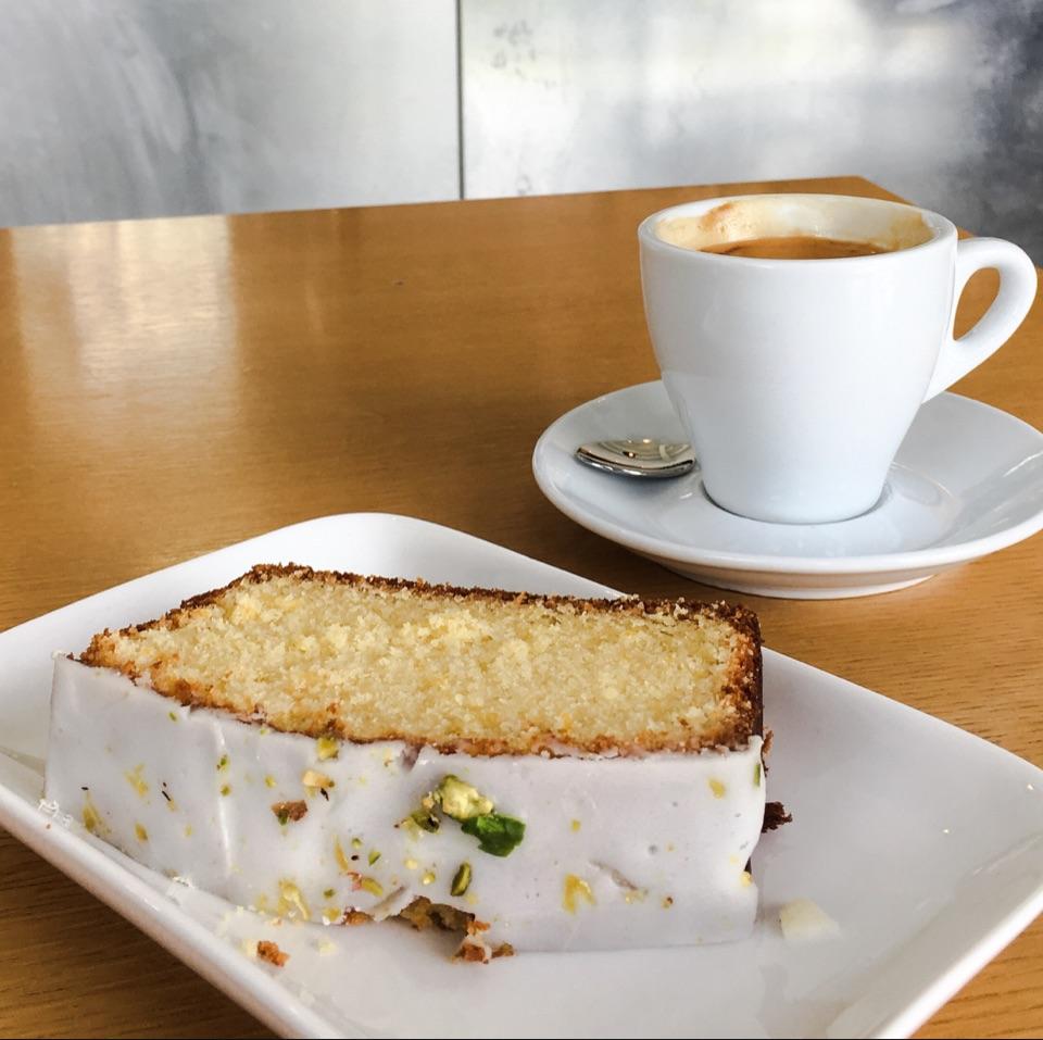 Lemon Slice Pound Cake with Pistachio