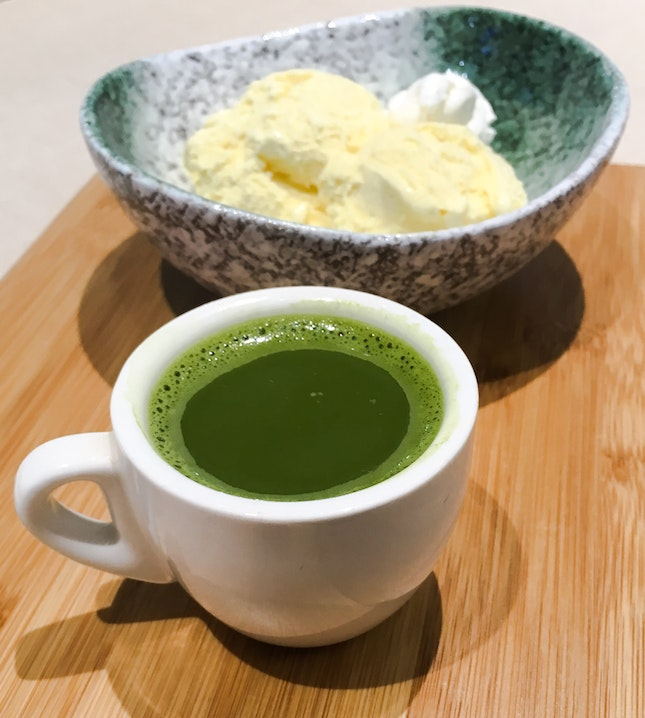 Rich Matcha Affogato