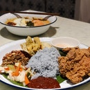 Nasi Lemak with Prawn Paste Chicken