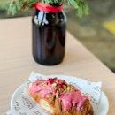 Raspberry Glaze & Pistachios Croissant