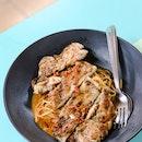 Chicken Chop Laksa Spaghetti