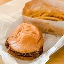 Shabu Burger (with add-on Shoestring Fries)