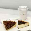 Basque Cheesecake, Maple Pecan Tart, White