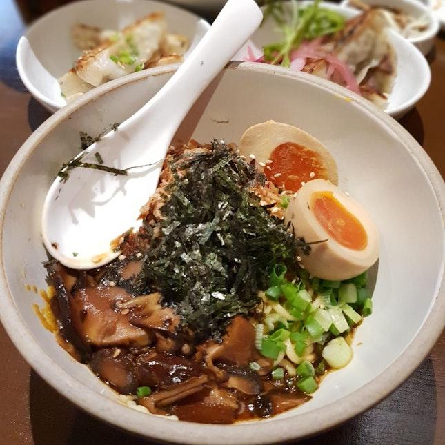 Miso Mushroom Noodles [$5++]
