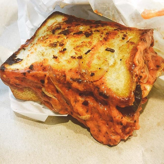 @hungrybazterdz 's grilled cheese with salmon ($15) is not a bastard but a badass.