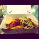 Aglio Olio with Battered Fish