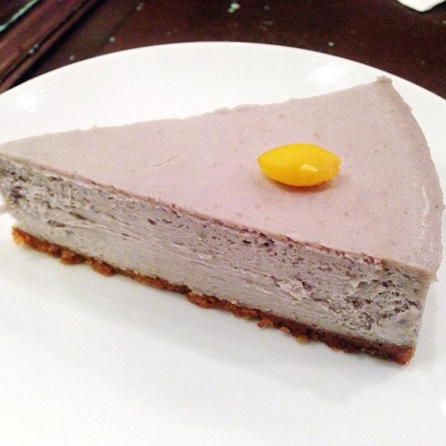 Taro cheesecake.