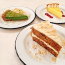 Matcha Milk Pie, Lemon Curd Tart, Carrot Cake