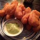 {Pa Thong Ko} Chinese Donut dipped in Pandan Custard