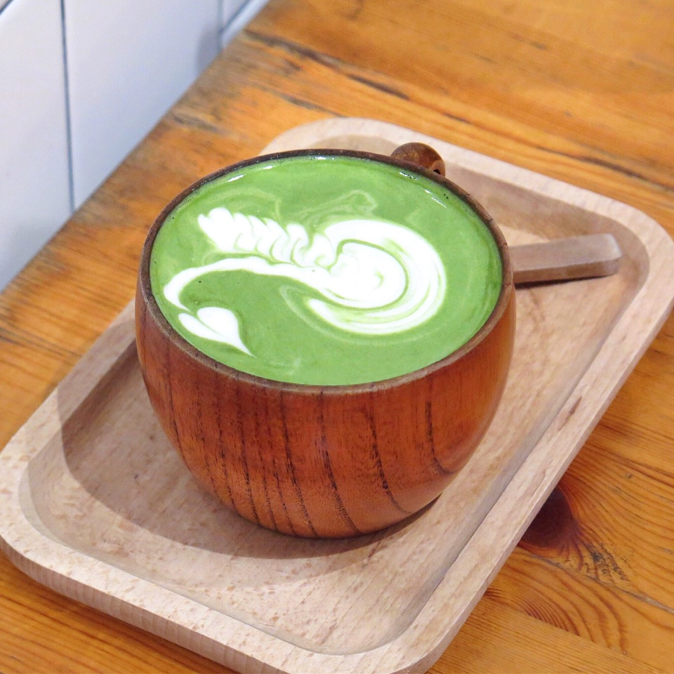 Hot Japanese Matcha Latte [$6]