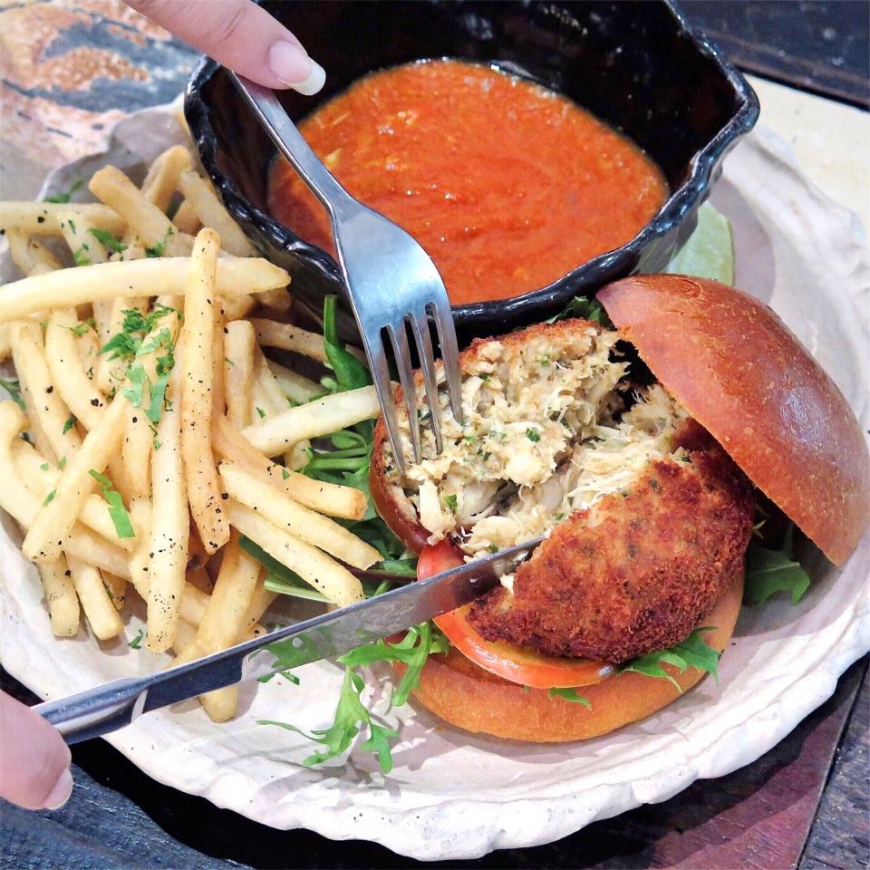 Artistry Chili Crab Burger [$25]