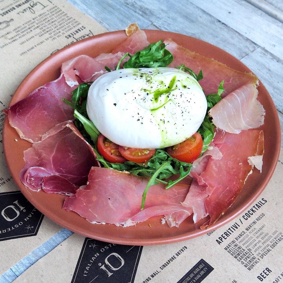Chef's Special - Big Size Burrata, Parma Ham [$38]