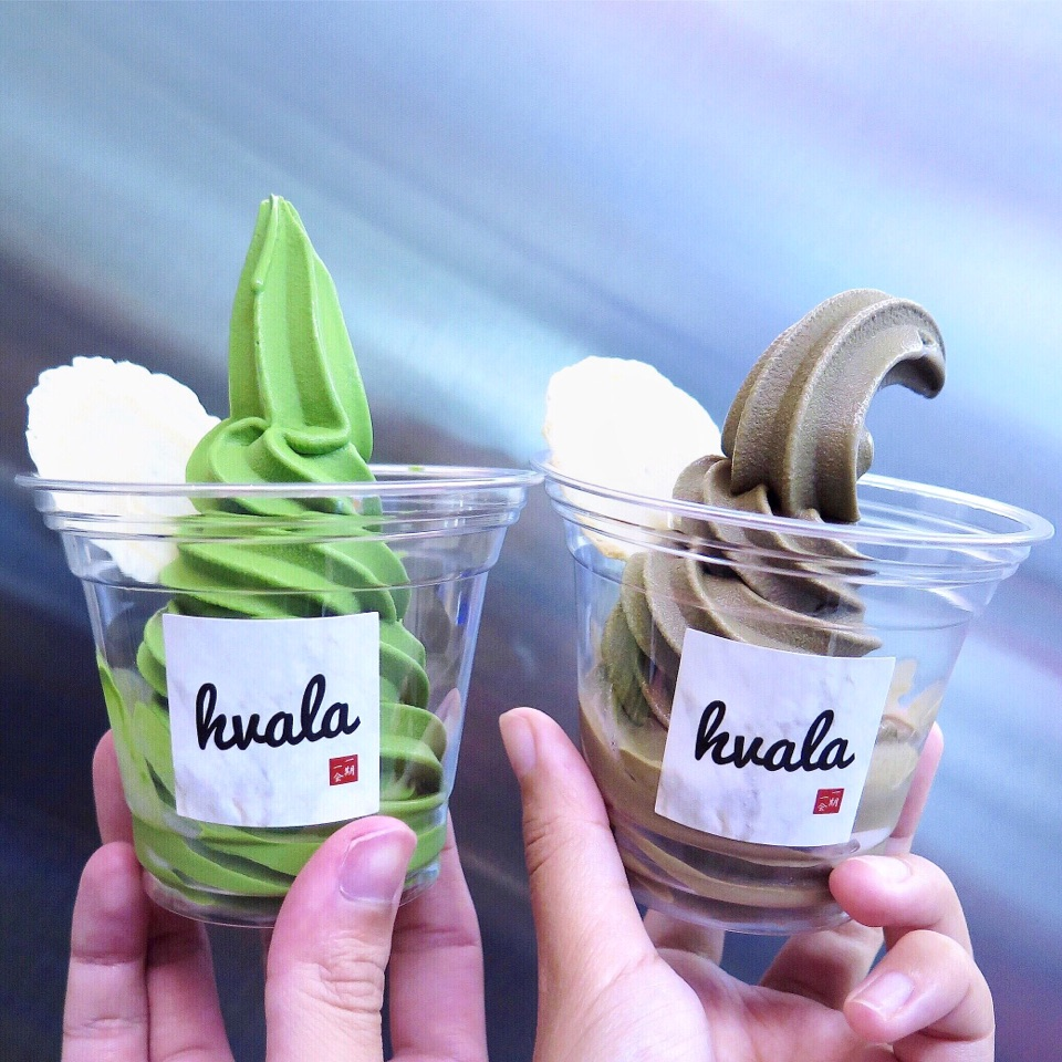 Matcha & Houjicha Softserve [$5.70/Cup]