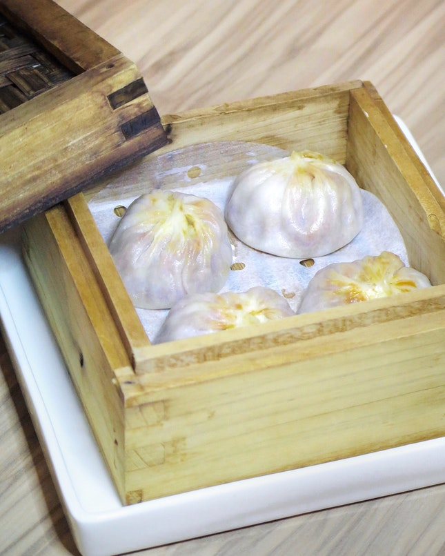 Chilli Pomelo Crab Meat & Minced Pork Xiao Long Bao 辣椒螃蟹小籠包 [$9]