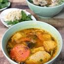 Paddy Crab Pork Rib & Tomato Vermicelli Soup - Bún Riêu [$9.50]