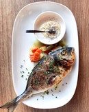 Salt-Grilled Orata Seabream, Homemade Tartare Sauce, Grilled Veg [$60 - Advanced Booking Required]