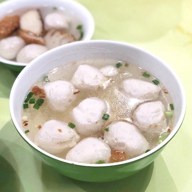 Fishball Soup [$3]