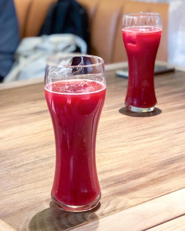 Raspberry Juice with Tamarind 野生酸角树莓汁 [$4.90]