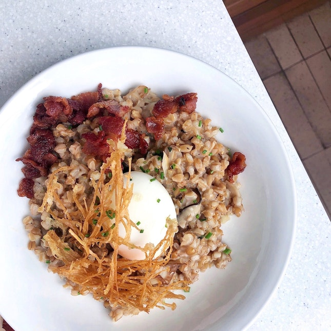 Miso Bacon Mushroom Risotto [$22]