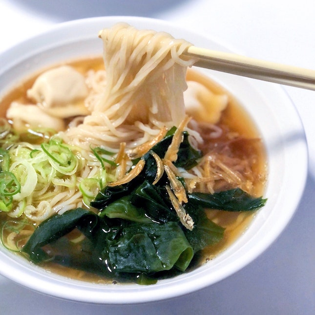 Cabbage Pork Dumpling Noodle 白菜猪肉水饺面 [$4]