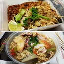 Lunch in the office today: Authentic Phad Thai and Tom Yam soup with instant noodles.