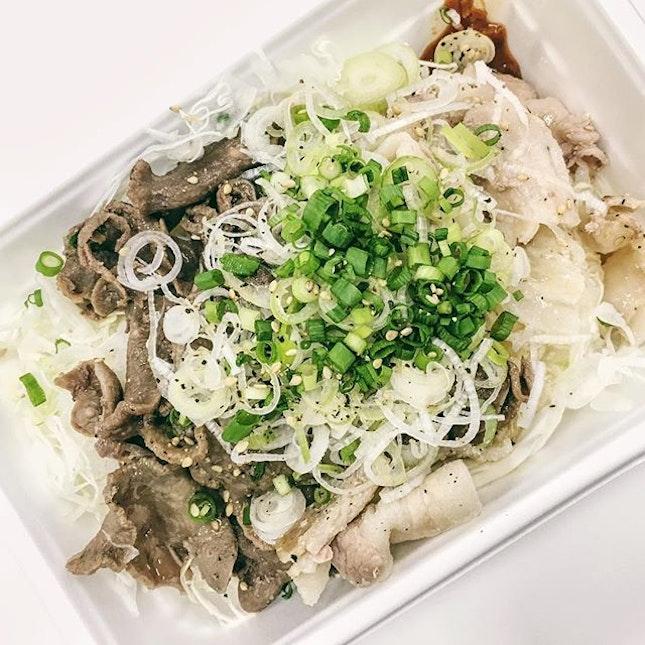 Gyu Tongue + Pork Belly [¥700].